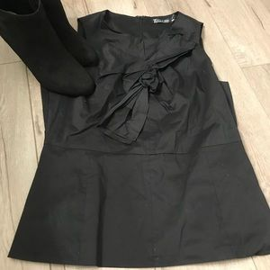 NY & Co Black Knotted Top